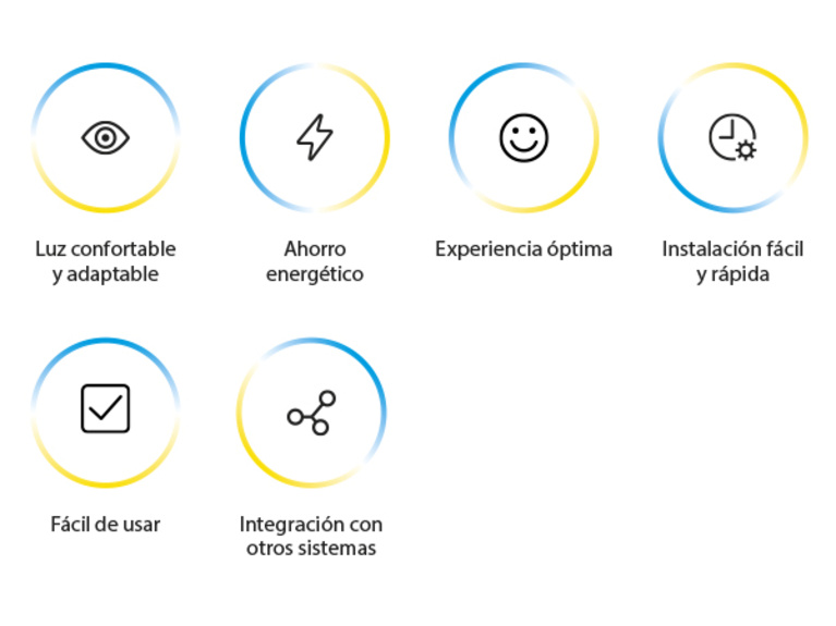 Iconos beneficios Smart Light for Home