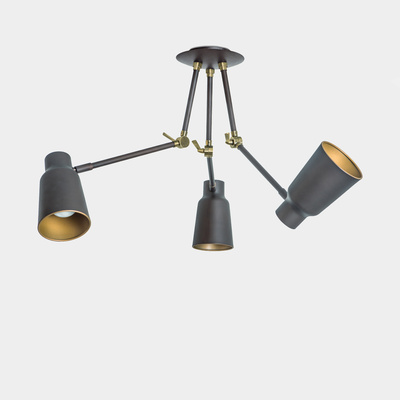 funk-pendant-3leds-brown-gold